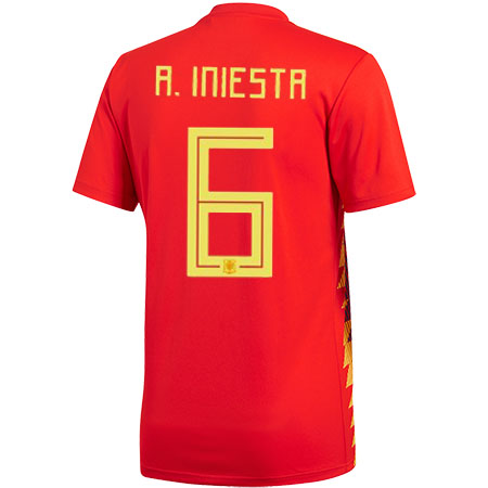 adidas Iniesta Spain 2018 World Cup Home Jersey