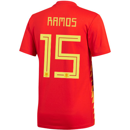 adidas Ramos Spain 2018 World Cup Home Jersey