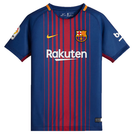 Nike FC Barcelona Home 2017-18 Youth Stadium Jersey
