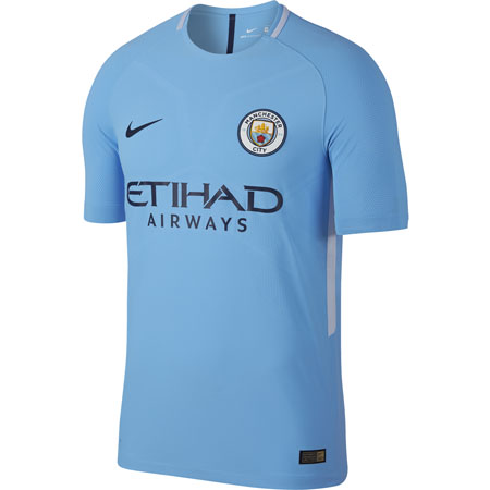 Nike Manchester City 2017-18 Home Authentic Match Jersey