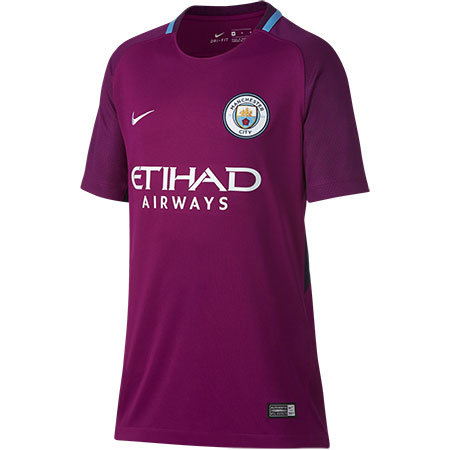 Nike Manchester City 2017-18 Away Youth Stadium Jersey
