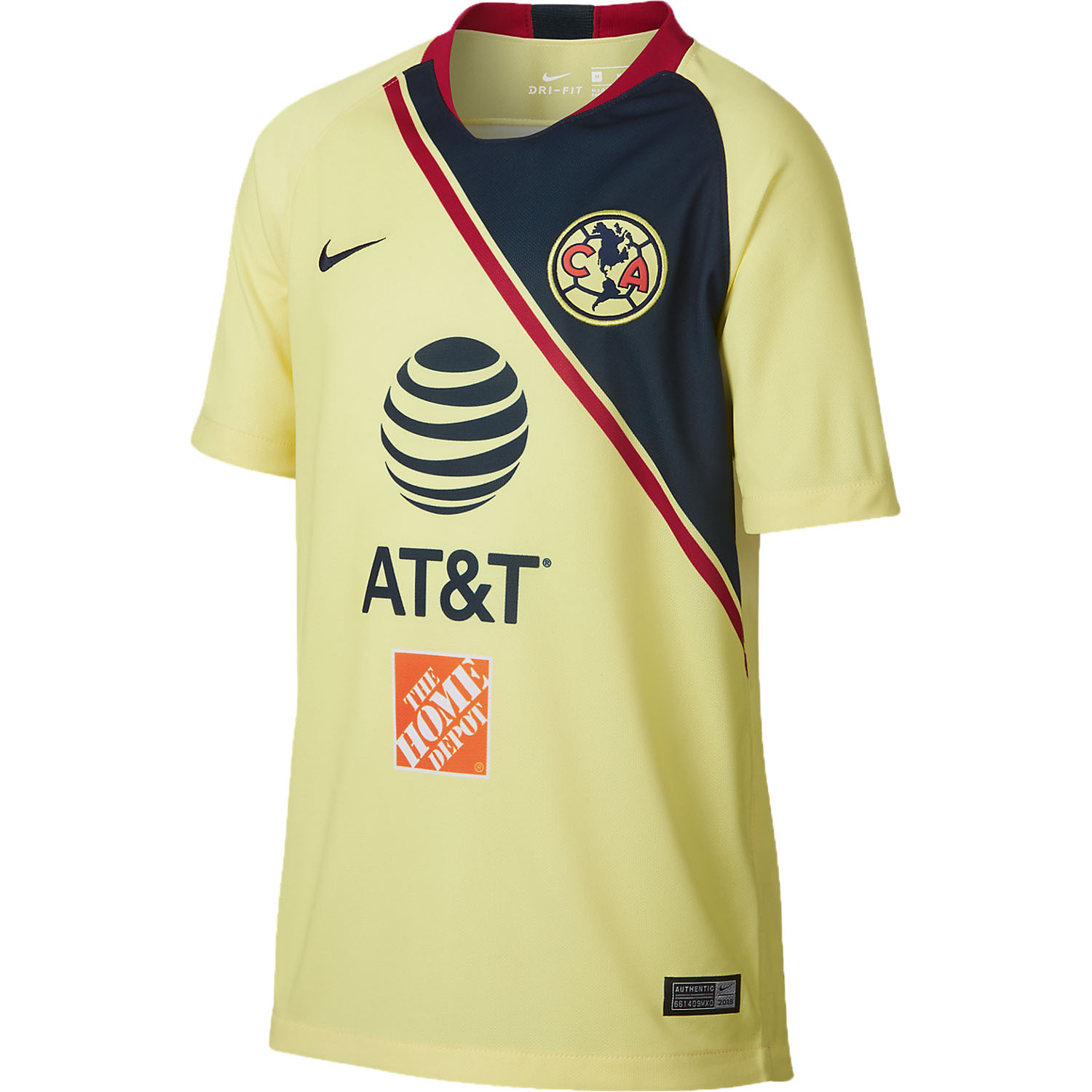 4d84ff7a5 Nike Club America Home 2018-19 Youth Stadium Jersey