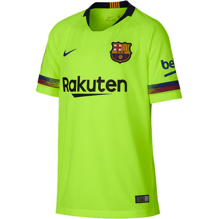 sports shoes 307ff bbf19 Nike FC Barcelona Away 2018-19 Youth Stadium Jersey | Shop ...
