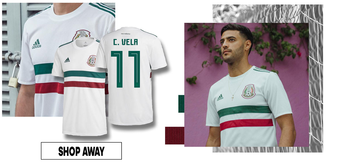 6064baa71 CARLOS VELA MEXICO AWAY JERSEY. SHOP OTHER WORLD CUP PRODUCTS – VIVA MEXICO!